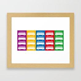 Combi Bus Framed Art Print