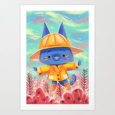 Raincoat 2 Art Print