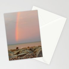 Rainbow out at Sea Stationery Cards