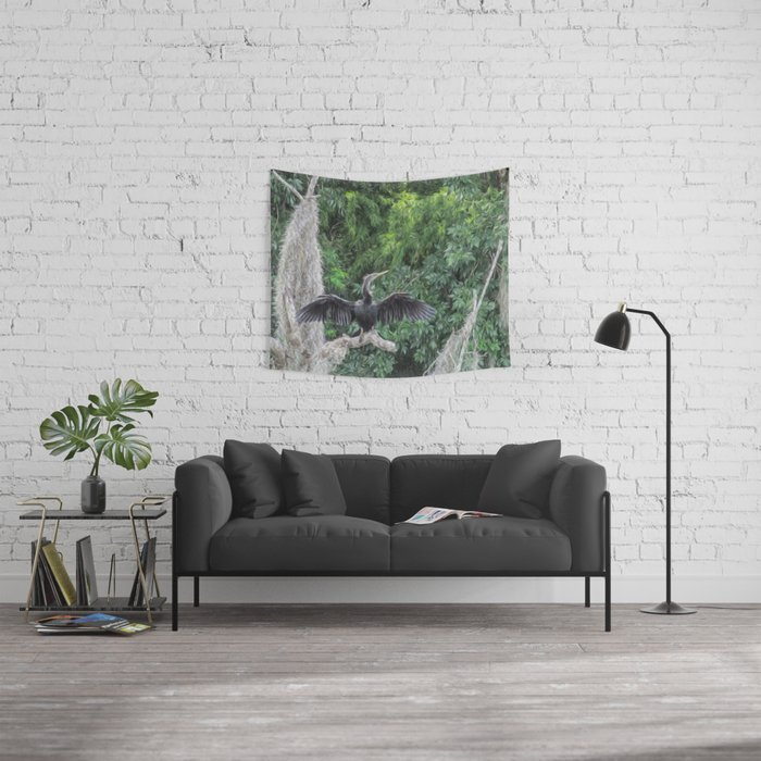 A Sunning Anhinga Wall Tapestry