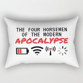 The Four Horsemen Of The Modern Apocalypse Rectangular Pillow