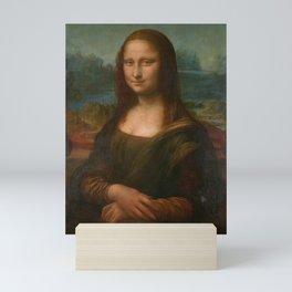 Mona Lisa Classic Leonardo Da Vinci Painting Mini Art Print