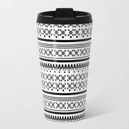 Christmas Jumper Black & White Travel Mug