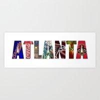atlanta Art Prints featuring ATLANTA by Mental Activity