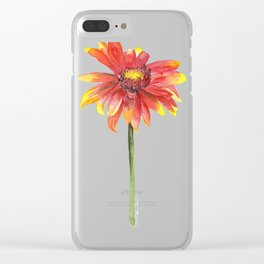 Indian Blanket Wildflower Watercolor Clear iPhone Case