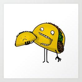Taco Eater Art Print