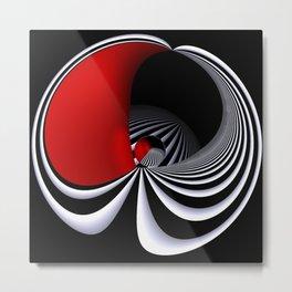 circular images on black -29- Metal Print