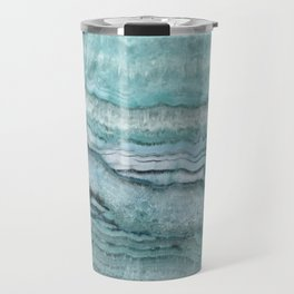 Mystic Stone Aqua Teal Travel Mug