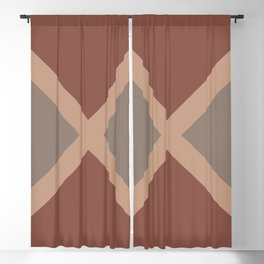 Brown Dark Red Minimal Diagonal Line Pattern 2021 Color of the Year Canyon Dusk & Accent Shades Blackout Curtain