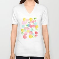 cherry blossom V-neck T-shirts featuring cherry blossom by zeze