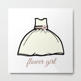 Flower Girl Sweetness Metal Print