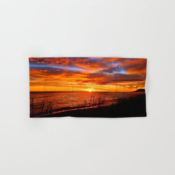 Spectacular Sunrise on the Saint-Lawrence Hand & Bath Towel