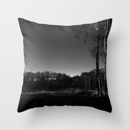 Eerie view in the Highlands Throw Pillow