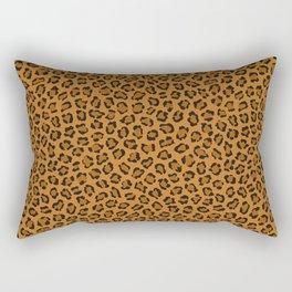 Dark leopard animal print Rectangular Pillow