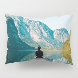 Deep in Thought - Beautiful Mountain Landscape Photography Pillow Sham