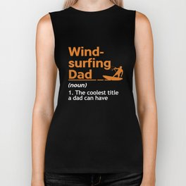 Windsurfing Dad Water Sports Sailing Father's Day Sailboarding Wind Surfers Gifts Biker Tank