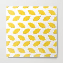 Fresh, juicy, bright lemon design Metal Print