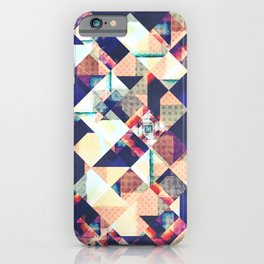 Geometric Grunge Pattern iPhone Case