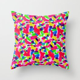 Colourful Abstract Throw Pillow