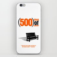 500 days of summer iPhone & iPod Skins featuring 500 Days Of Summer by FunnyFaceArt