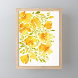 Watercolor California poppies (Quad set, #4) Framed Mini Art Print