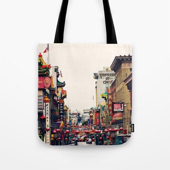 San Francisco China Town Tote Bag