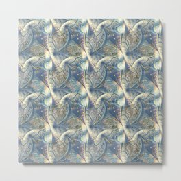 Rococo Rich Pattern design with Gold Relief  Metal Print