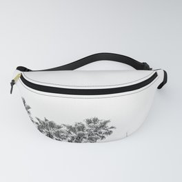 Minimalist Palm trees black-and-white photography Fanny Pack
