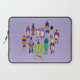 Superhero Butts - Power Couple on Violet Laptop Sleeve