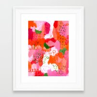 popsicle Framed Art Prints featuring Popsicle by Portia Monberg