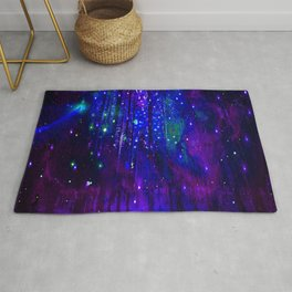 TREES MOON AND SHOOTING STARS Rug