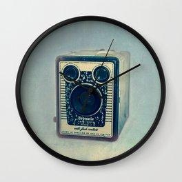 Kodak Brownie Blues Wall Clock