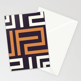 African Tribal Pattern No. 51 Stationery Cards