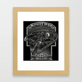Kessel Run Framed Art Print
