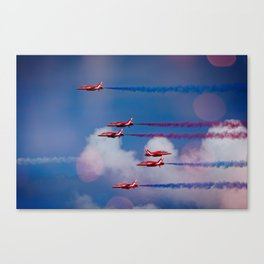 Red Arrows In The Sky Canvas Print