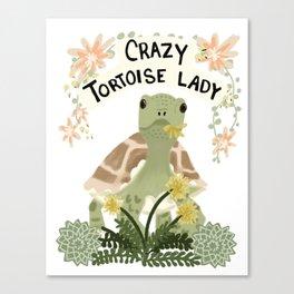 Crazy Tortoise Lady Canvas Print