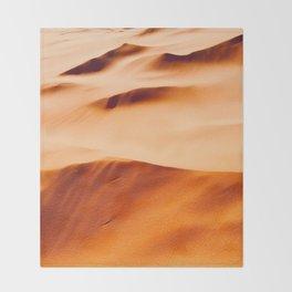 Orange Desert Sand Dunes Minimal Texture & Patterns In Nature Throw Blanket