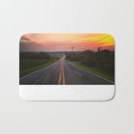 Sunset Over Fish & Game Road Bath Mat
