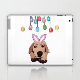 Happy Easter - Golden Lab Bunny Laptop & iPad Skin
