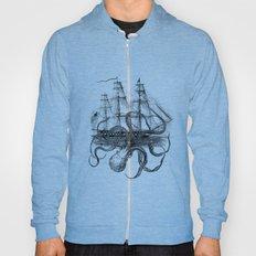 Octopus Kraken attacking Ship Antique Almanac Paper Hoody