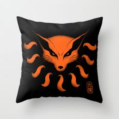 9 Tailed Beast Throw Pillow
