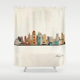 kansas city skyline Shower Curtain