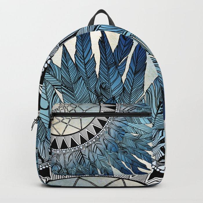 Blue Feather Dreamcatcher Backpack