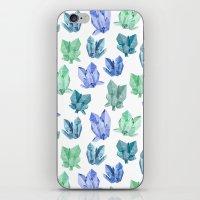 crystals iPhone & iPod Skins featuring Crystals by Marta Olga Klara