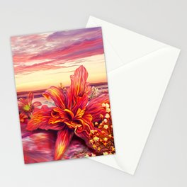 Radioactive flowers Stationery Cards