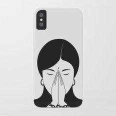Modern woman iPhone X Slim Case