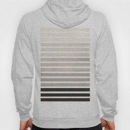 Watercolor Gouache Mid Century Modern Minimalist Colorful Grey Stripes Hoody
