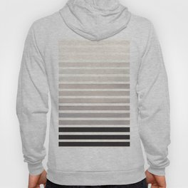 Watercolor Gouache Mid Century Modern Minimalist Colorful Grey Stripes Hoody