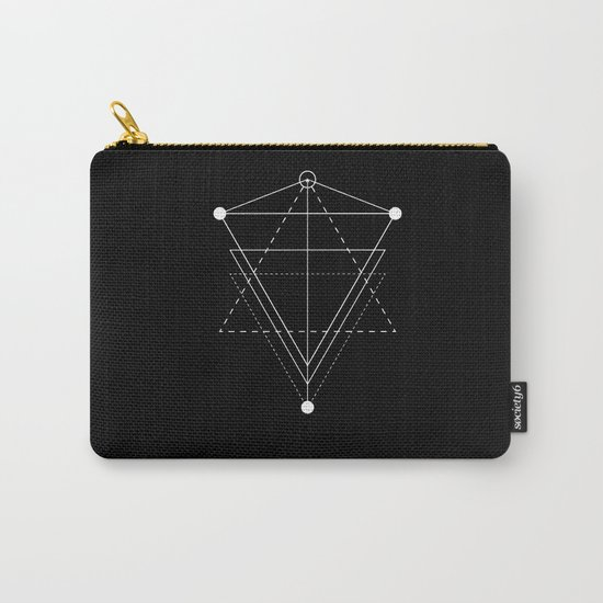 Triangle Planets Black Carry-All Pouch
