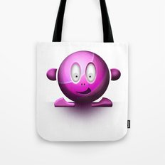 Emoticon Magenta Tote Bag